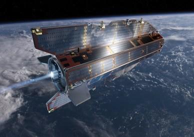 GOCE en orbite (vue d'artiste - source ESA)