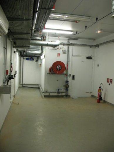 la salle de repli où on peut rester en autonomie d'air 45 minutes