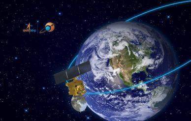 Mars Orbiter Mission de l'Inde (MOM) s'est libèrée de la Terre le 1er décembre (concept d'artiste - ISRO)