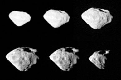 L'astéroïde Steins prise en photo par Rosetta (source ESA)