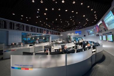 Le Centre de Contrôle de Gaia -  ESOC (source ESA)