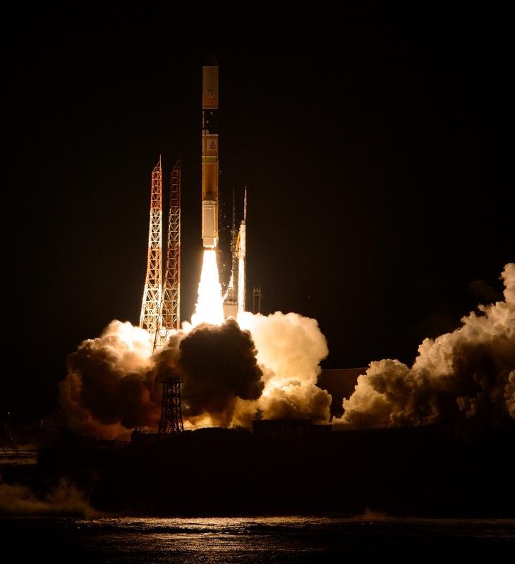 Décollage de la fusée H-IIA avec à son bord le satellite GPM, le 27 février 2014 (Crédit: NASA/Bill Ingalls)