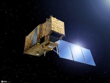 Vue d'artiste de Sentinel-2 (source ESA)