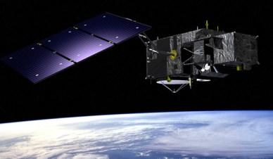 Vue d'artiste de Sentinel-3 (source ESA)