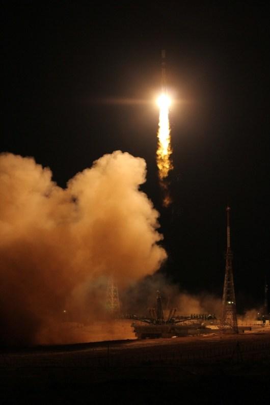 La fusée Soyouz décolle ce 16 avril avec à son bord le satellite EgyptSat-2 (source Tsenki)