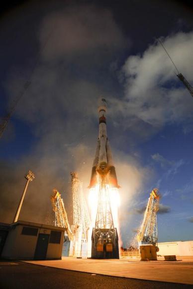 Lancement de VS07 - Sentinel 1A (source S. Corvaja - ESA)