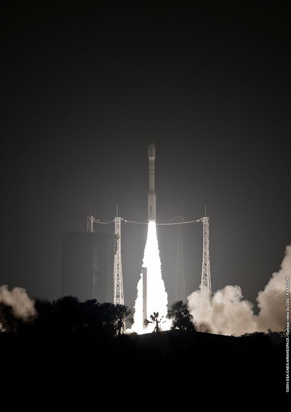 Décollage VV03 le 29/04/2014 (source Arianespace)