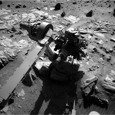 3e forage en cours par Curiosity (source @MarsCuriosity)