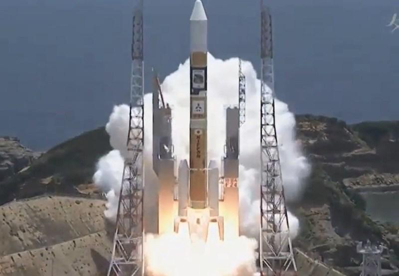 Décollage de la fusée HII-A du 24/05/14 (Source JAXA TV)