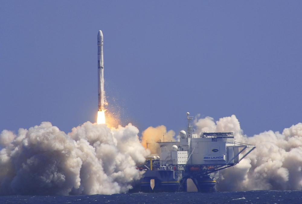 Lancement d'Eutelsat3B le 26/05/14 par Zenit 3SL (source Sea Launch)