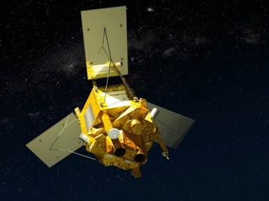 Image d'artiste de Spot 6 / Spot 7 en orbite (source Airbus DS)