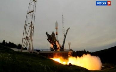 Décollage de la Soyouz emportant le Glonass (Photo: Rossiya 24)