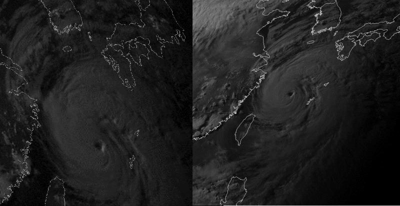 Photos de satellites japonais (à droite) et chinois (à gauche) (source @simon_rp84)