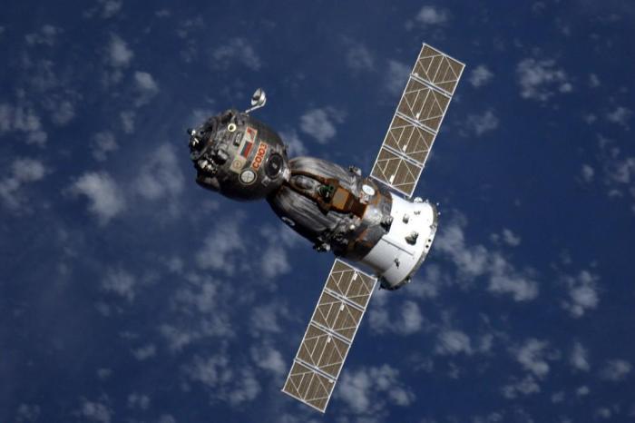 Photo prise par Alexander Gerst à bord de l'ISS du départ du Soyouz TMA-12