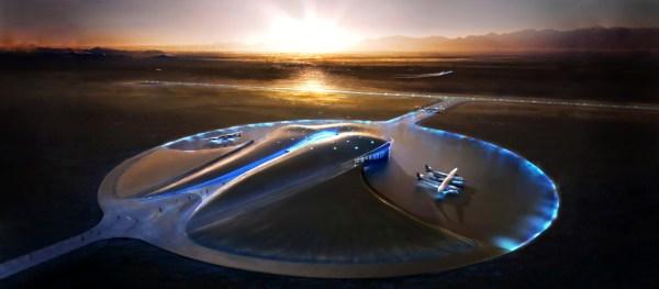 Vue du Spaceport America imaginé par Virgin Galactic