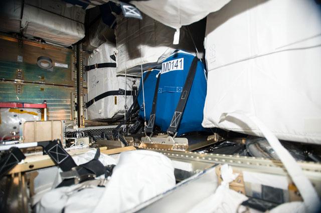 L'intérieur de l'ATV5 prêt au désamarrage (Credit: ESA/NASA)
