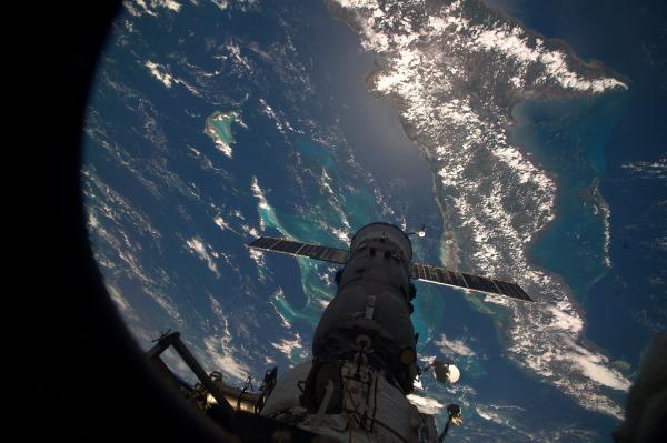Le Progress M26-M attaché à l'ISS (source Roscosmos)