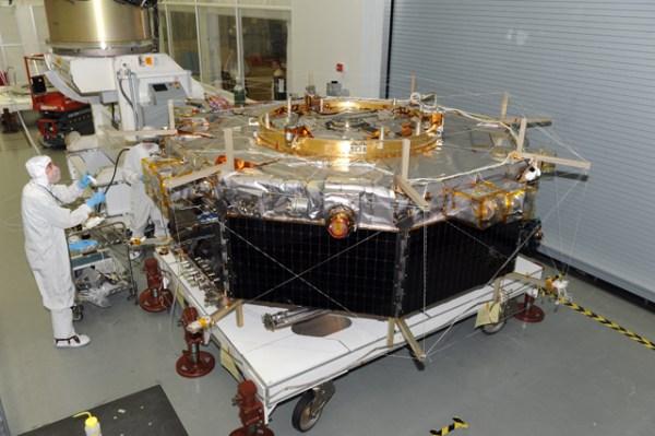 L'un des 4 satellites MMS (Photo: NASA Goddard)