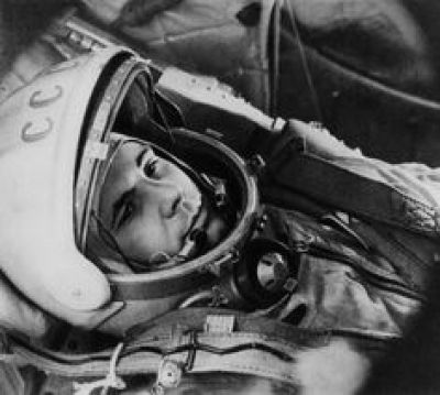 Yuri Gagarine dans son vaisseau Vostok1