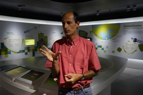 Hervé Jeanjean du CNES à la Cité de l'espace de Toulouse le 04 juin 2015