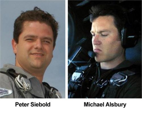 Les pilotes d'essais de Scaled Composites Peter Siebold et Michael Alsbury. (Photo Credit: Scaled Composites)