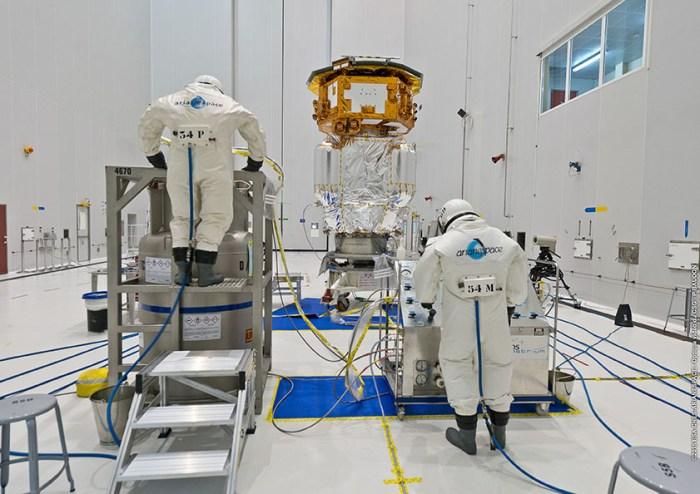 Maintenant la partie sérieuse… l'activité de remplissage (credits ESA / Arianespace / CNES / CSG)