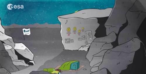 Philae endormi (credits ESA)