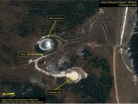 Airbus Defense & Space and 38 North satellite image of the Sohae Satellite Launching Station in North Korea