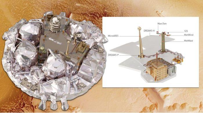 Schiaparelli de la mission ExoMars (Credit: Echus Chasma, MEX/HRSC)