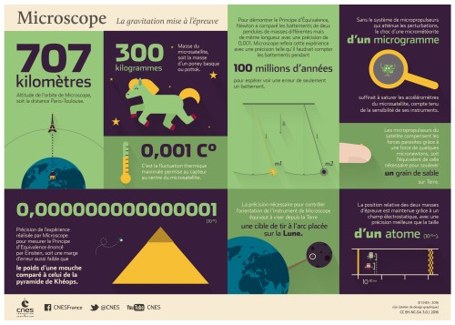 Infographie sur le satellite Microscope (credit CNES)