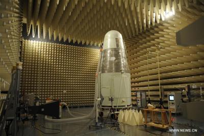 Photo fournie par l'Académie chinoise des sciences, prise le 8 septembre 2015 montre ShiJian-10 en tests (source Xinhuat)
