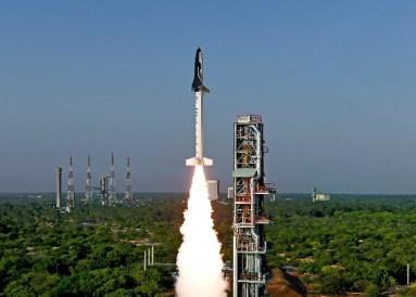 Lancement de la mini-navette RLV-TD de l'ISRO le 2305/2016 (credit ISRO)
