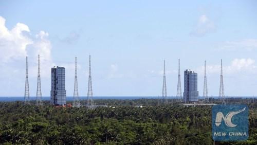 Les 2 pas de tir du centre de lancement Wenchang (source NewChina)