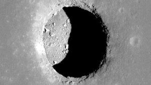 Tunnel de lave sur la Lune (Crédit : NASA)