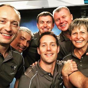 L'équipage de l'Expédition 51. De gauche à droite: Sasha Misurkin, Mark Vande Hei, Nikolay Tikonov, Oleg Novitsky et Peggy Whitson (credit Thomas Pesquet)