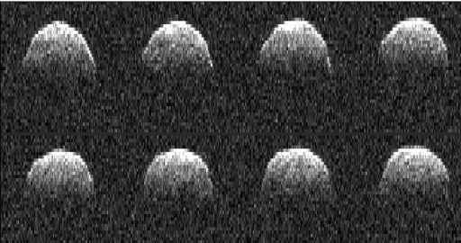Image radar de l'astéroïde Bennu lors de sa découverte en 1999 (crédits NASA)