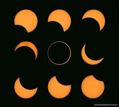 L'éclipse annulaire du 01/09/2016 (©Philippe Jacquot)