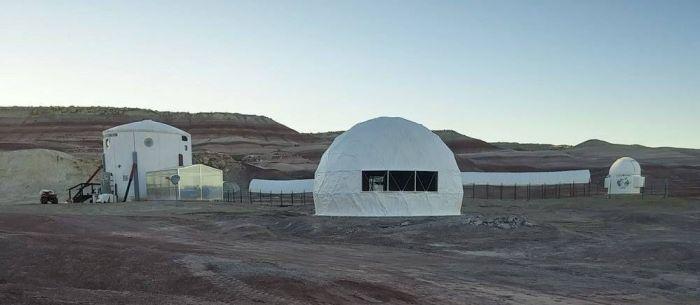 La station MDRS de la Mars Society dans l'Utah (credit TMS)