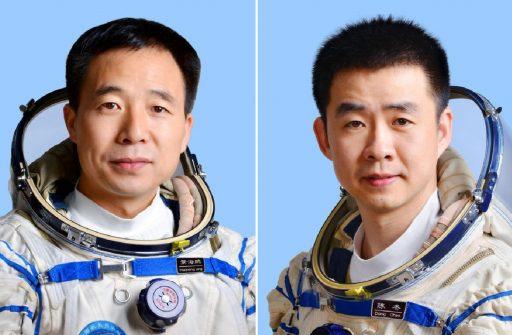 L'équipage de Shenzhou 11 : Jing Haipeng (à gauche) et Chen Dong (à droite) (Images: Xinhua)