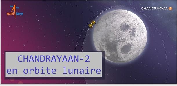 Chandrayaan-2 se rapproche de la Lune