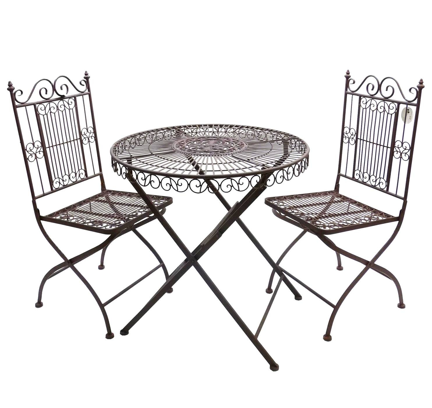 Table De Jardin Fer Ancienne Salon De Jardin 2 Personnes Salon De The Bistrot 1 Table 2 Chaises En Fer Marron