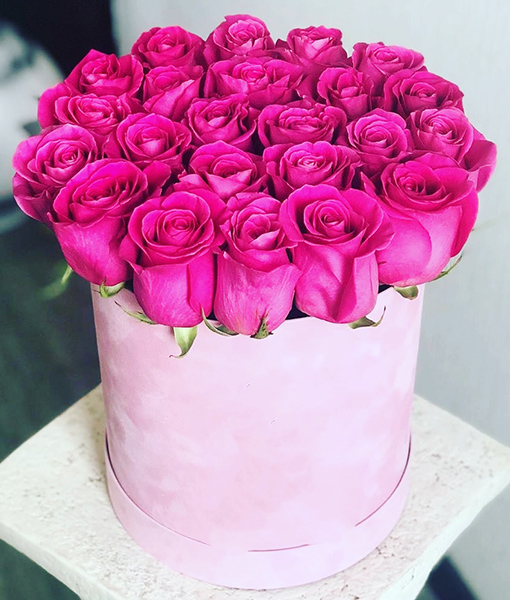 The Rose Hatbox Pink