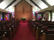 Inside St. Andrew's Lutheran Church