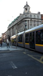 Rush hour in centre of Dublin.