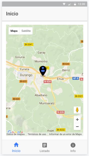 Mostrando un marcador en el mapa