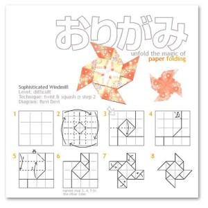 Origami Windmill | revideviwordpress