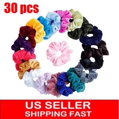 30Pack Women Girl Hair Scrunchies Velvet Elastic Hair Bands Scrunchy Hair Ties