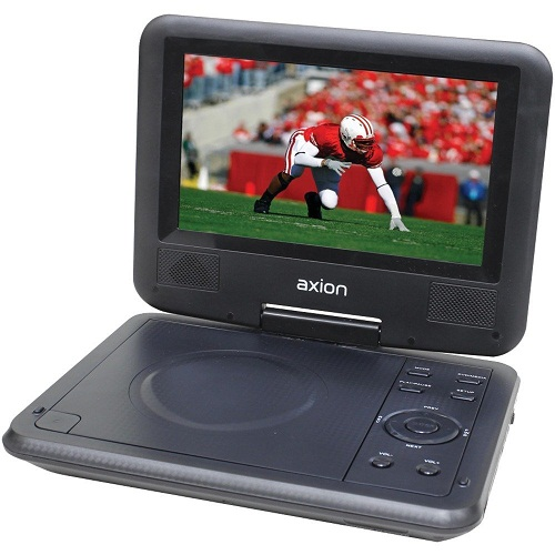 The Axion 7-inch swivel screen portable DVD
