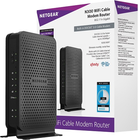 N300 Wi-Fi DOCSIS 3.0 Cable Modem Router