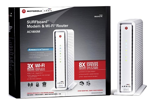 Surf Board Cable Modem & Wi-Fi Router